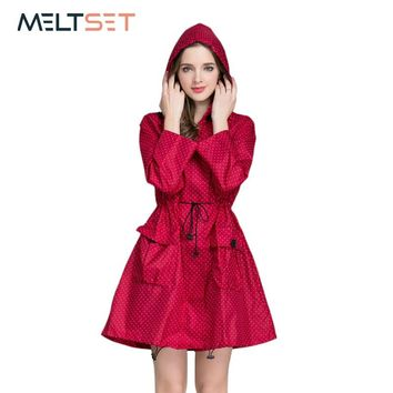 Fashion Women Raincoat Waterproof Trench Coat Motorcycle Rainwear Windbreaker Rain Jacket Hoodie Bicycle Outdoor Rain Poncho
