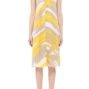 Max Mara 'Danzica' Abstract Print Plissé Dress | Nordstrom