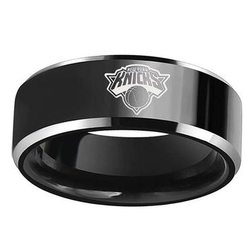 NEW YORK Knicks team ring mens titanium steel black
