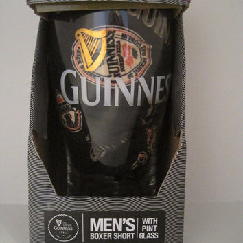 Guinness Boxer Shorts and Guinness Pint Beer Glass XL Brand New in Box