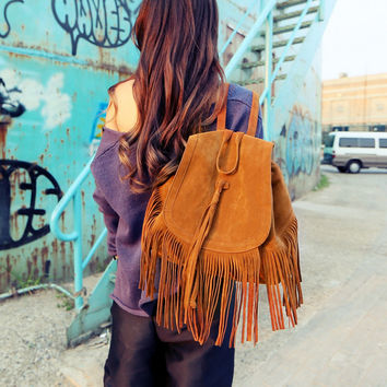 Bohemian Tassels Backpacks