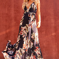 Cookie Cutter Maxi Dress Navy