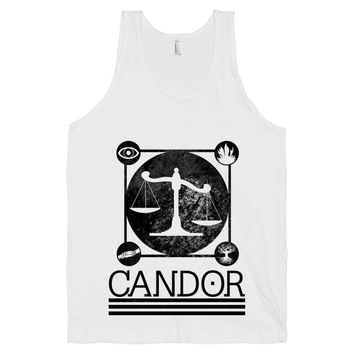 Candor, Divergent Shirt, The Honest, Tobias Eaton, White American Apparel Tank Top
