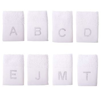Minteks Embroidered Towels Personalized | Decorative , Monogrammed Washcloths, 12x20 inches