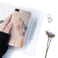 Flower Case for iPhone 7 7 plus  iPhone 6s 6 Plus Elegant
