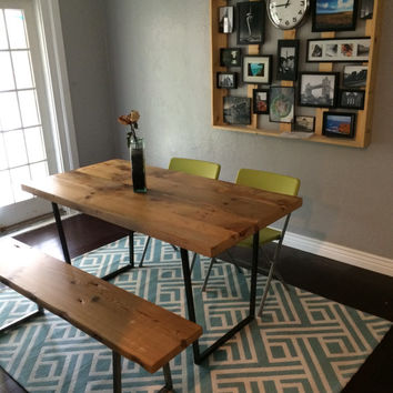 "Reclaimed Wood table with a history... We make them in any size. 60"" L x 34"" W x30""  tall"