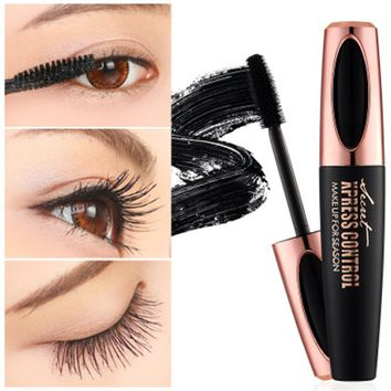 Newest Makeup Eyelash Mascara Eye Eyebrow Lashes makeup 4d silk fiber lash mascara air transport