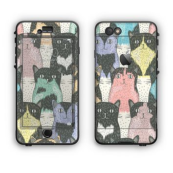 The Vintage Cat portrait Apple iPhone 6 Plus LifeProof Nuud Case Skin Set