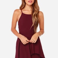 Save the Last Dance Burgundy Dress