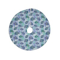 "Julia Grifol ""My Colorful Fishes"" Blue Teal Tree Skirt"