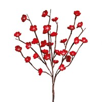 Flower Blossom Branches, 30 Red Cherry Blossoms with warm white LED Lights