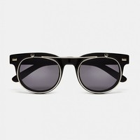 The Idle Man Sunglasses with Flip-Up Lens - Black - THE IDLE MAN - Brands | Shop for Men's clothing | The Idle Man