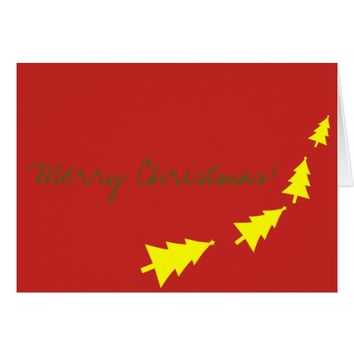 Merry Christmas Best Wishes Fir Tree Greeting Card