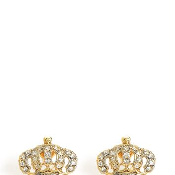 Gold Crown Stud Earring by Juicy Couture, O/S