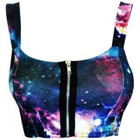 Galaxy Tie Dye Crop Bralet Top from CherryKreations21