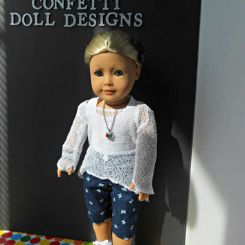 "Boardwalk Stroll 14 piece mix and match ensemble for 18"" dolls like American Girl Dolls"