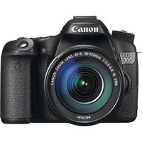 Canon - EOS 70D Digital SLR Camera with 18–135mm IS STM Lens - Black