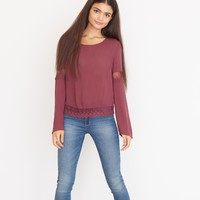 Midi Top with Lace