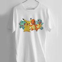 Pokemon all T-shirt Men, Women Youth and Toddler