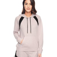 Whisper Pink Sparkle Jersey Hoodie by Juicy Couture,