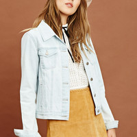 Button Front Denim Jacket