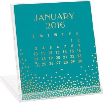 2016 Paper Source Gold Foil Desk Calendar