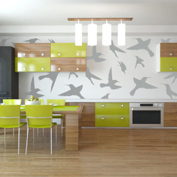 Passero - Vinyl Decal - Birds - Vinyl Wallpaper - Apartment Decor - High Quality Vinyl