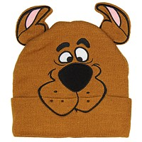 Scooby Doo Costume Hat Beanie Embroidered Scooby Original Cartoon Network Face