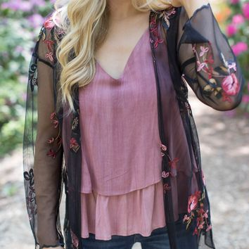 HaleyTown Tiered Top, Red Bean