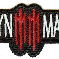 Marilyn Manson Iron-On Patch White Letters Logo