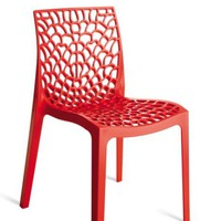 Gruvyer - Modern Italian Dining Chair Red