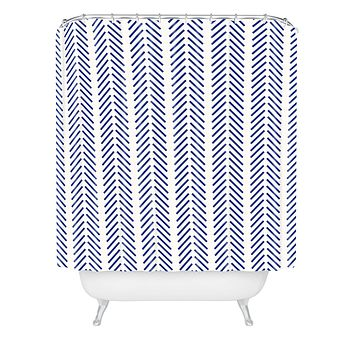 Holli Zollinger Nautical Lines Shower Curtain