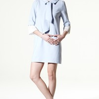 Pleats N Bow Shift Dress Discover the latest fashion trends online at storets.com