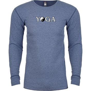 Yoga Clothing For You Yin Yang Yoga Text Long Sleeve Thermal Yoga Tee Shirt