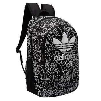 Adidas Black Canvas Backpack Travel Bag