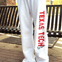 White Texas Tech Sweatpants