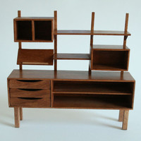 Miniature Mid Century Shelving Unit