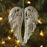 Angel Wings Ornament - Gold