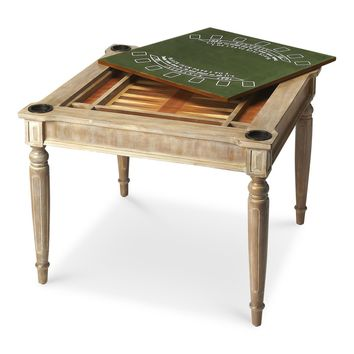 Butler Multi Game Card Table Driftwood Finish