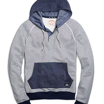 Men's Button-Front Placket Hoodie