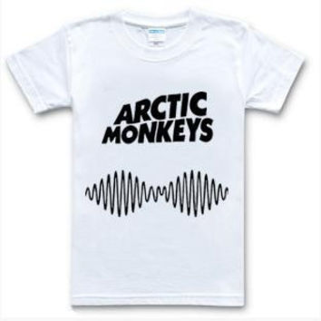 Arctic Monkeys Women's Casual Short Sleeve White T-Shirt