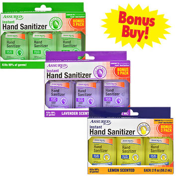 Bulk Assured Travel-Size Hand Sanitizers in Assorted Scents, 3-ct. Packs at DollarTree.com