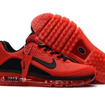 Nike Air Max 2017. 5 KPU Red & Black Men's Running Shoes Sneakers
