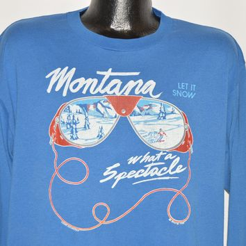 80s Montana Let It Snow Long Sleeve t-shirt Extra Large