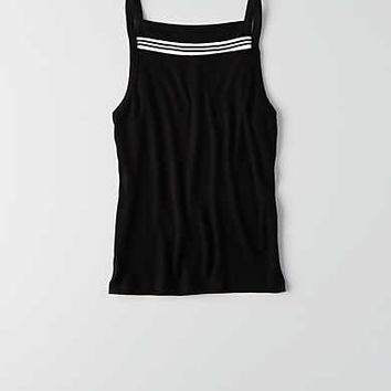 AEO Soft & Sexy Ribbed Hi-Neck Tank , True Black