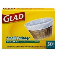 Glad Indoor Small Garbage Bags 4 Gallon 30 ct