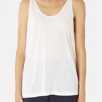 Women's Topshop Boutique Relaxed Modal & Cashmere Tank,