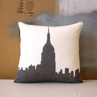 Empire State Building Pillow - Urban Throw Style no7 - 16 x 16