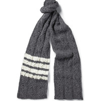 Thom Browne - Wool and Mohair-Blend Scarf   MR PORTER