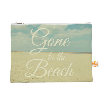 """Alison Coxon """"Gone To The Beach"""" Tan Blue Everything Bag"""